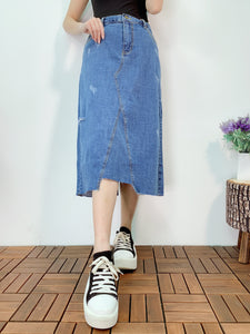 1904045 VI rotten denim skirt