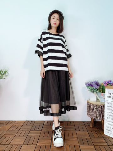 1904027 QC pleated sleeves border top