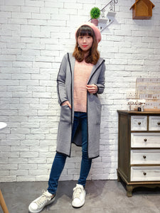 1912025 DD bi-colour knit long outer