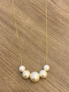 MENE0003 ME Cotton Pearls Necklace