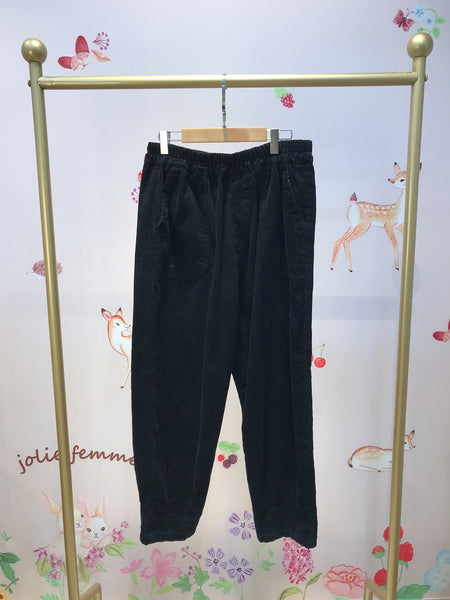 2011011 JP Corduroy Casual Pants - Black
