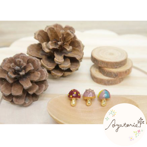 1101AY359 Ayatorie Mushroom Garden Earrings
