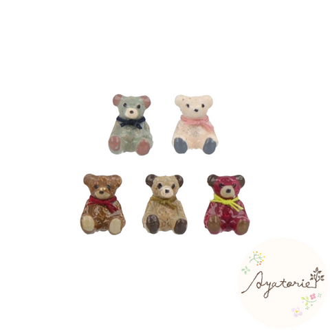 1101AY251 Ayatorie Teddy Party Earrings
