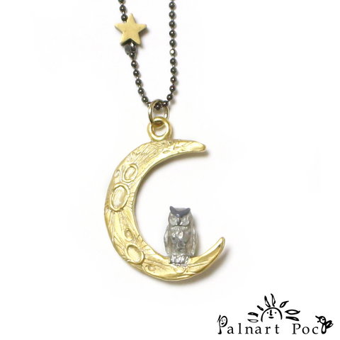 1002NE285 Palnart Poc - Midnight calling Necklace