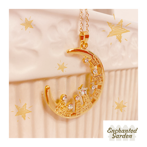 1402NE001 Enchanted Garden Silent Night Necklace  Length:74cm Motif:4cm