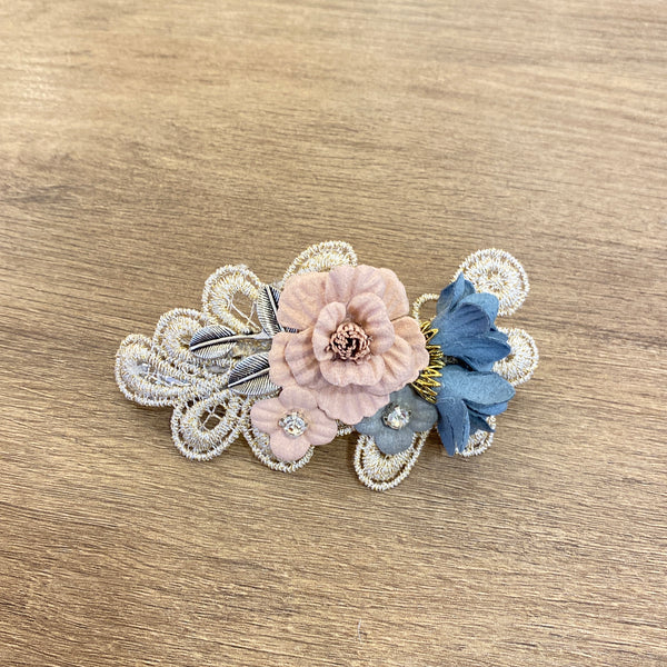 1405HA020  KR Lace Floral Spring Hair Barrette