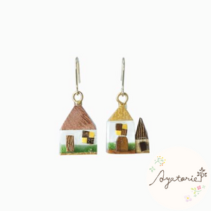 1101AY235 Ayatorie Days in Village Earrings