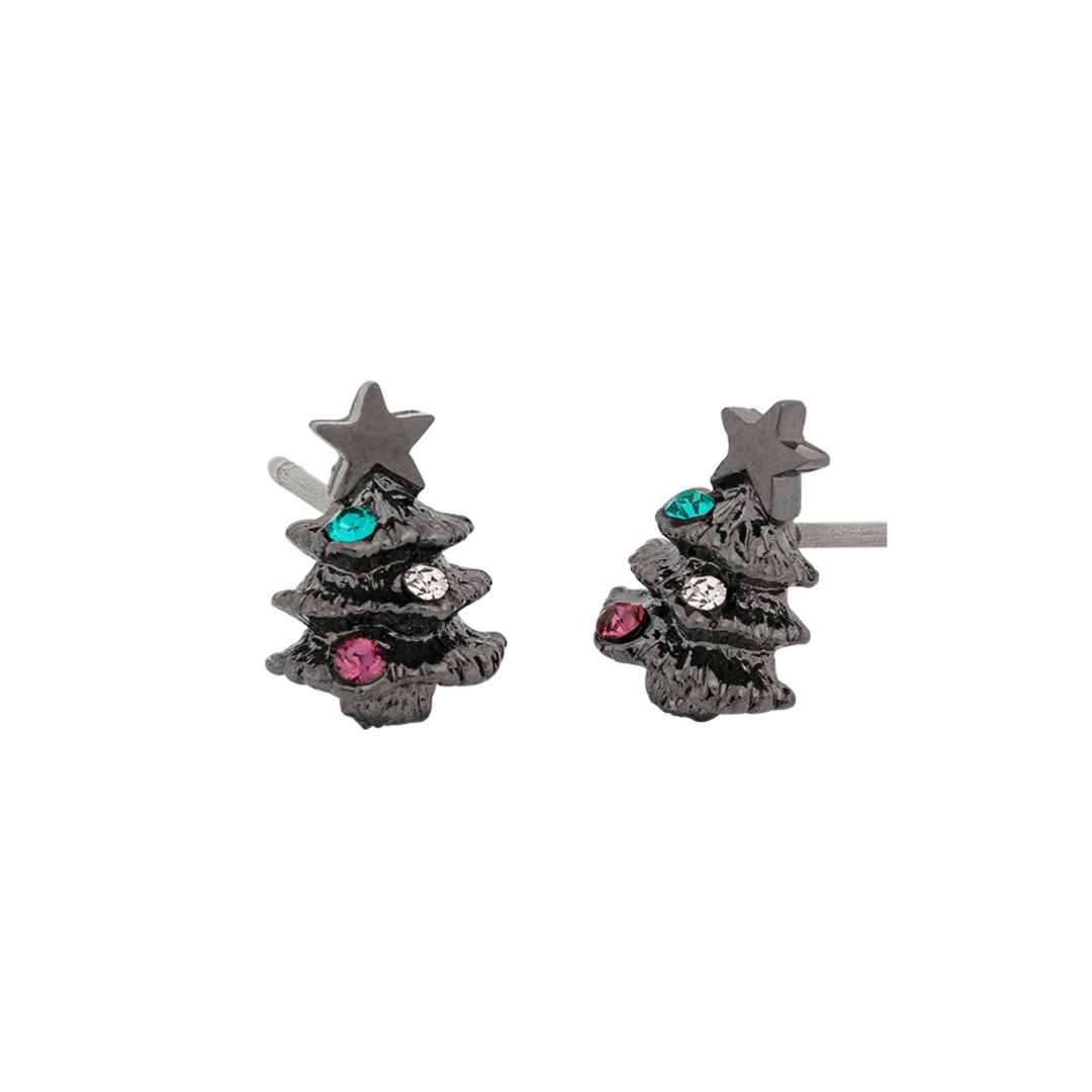 1101AXPC5074 Osewaya Christmas Tree Earrings
