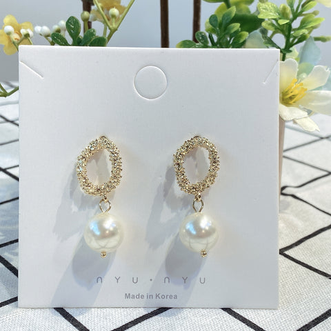 NNPA004 Classic Dangling Pearl Earrings