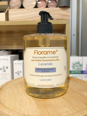 FL012 FLORAME Shower Gel - Lavender Flower 有機薰衣草沐浴啫喱 [500ml]