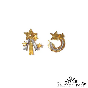 1001PA206 Palnart Poc Starscraper Earrings