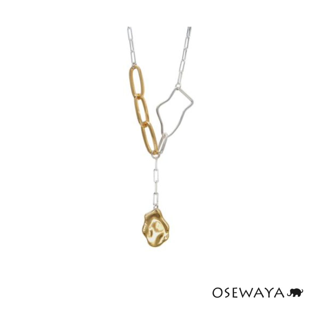 1101SA47 Osewaya Metalic Autumn Necklace