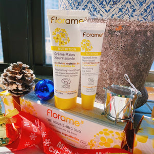 FL024 FLORAME Nourishing Hand Cream and Lip Balm Set