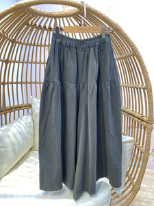 2102027 JP pleated wide pants - Green