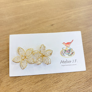 1401PA014 KR 3D Floral Stud Earrings