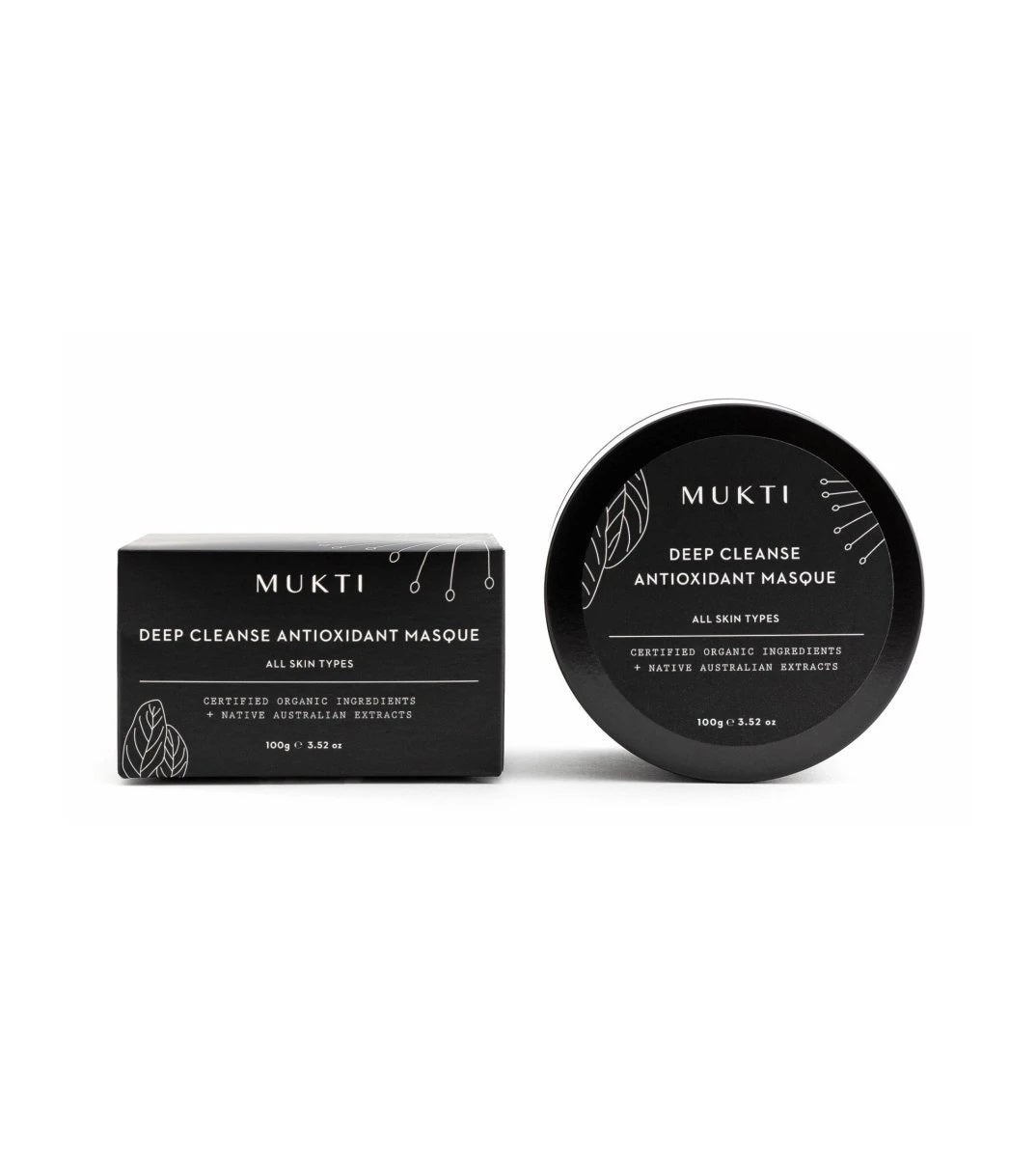 MU012 MUKTI Deep Cleanse Antioxidant Masque 有機深層潔淨面膜 [100g]