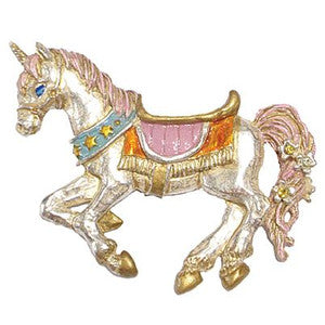 1006PB048 Unicorn Brooch