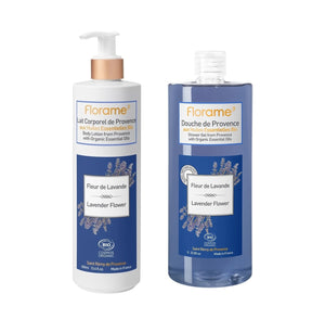 FLS04 FLORAME Lavender Flower Shower Gel & Body Lotion (1213) Set 有機薰衣草沐浴啫喱及潤膚霜套裝