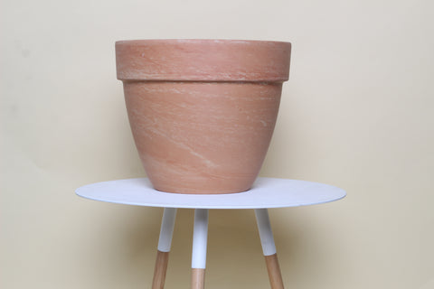 Light Marble Standard Planter