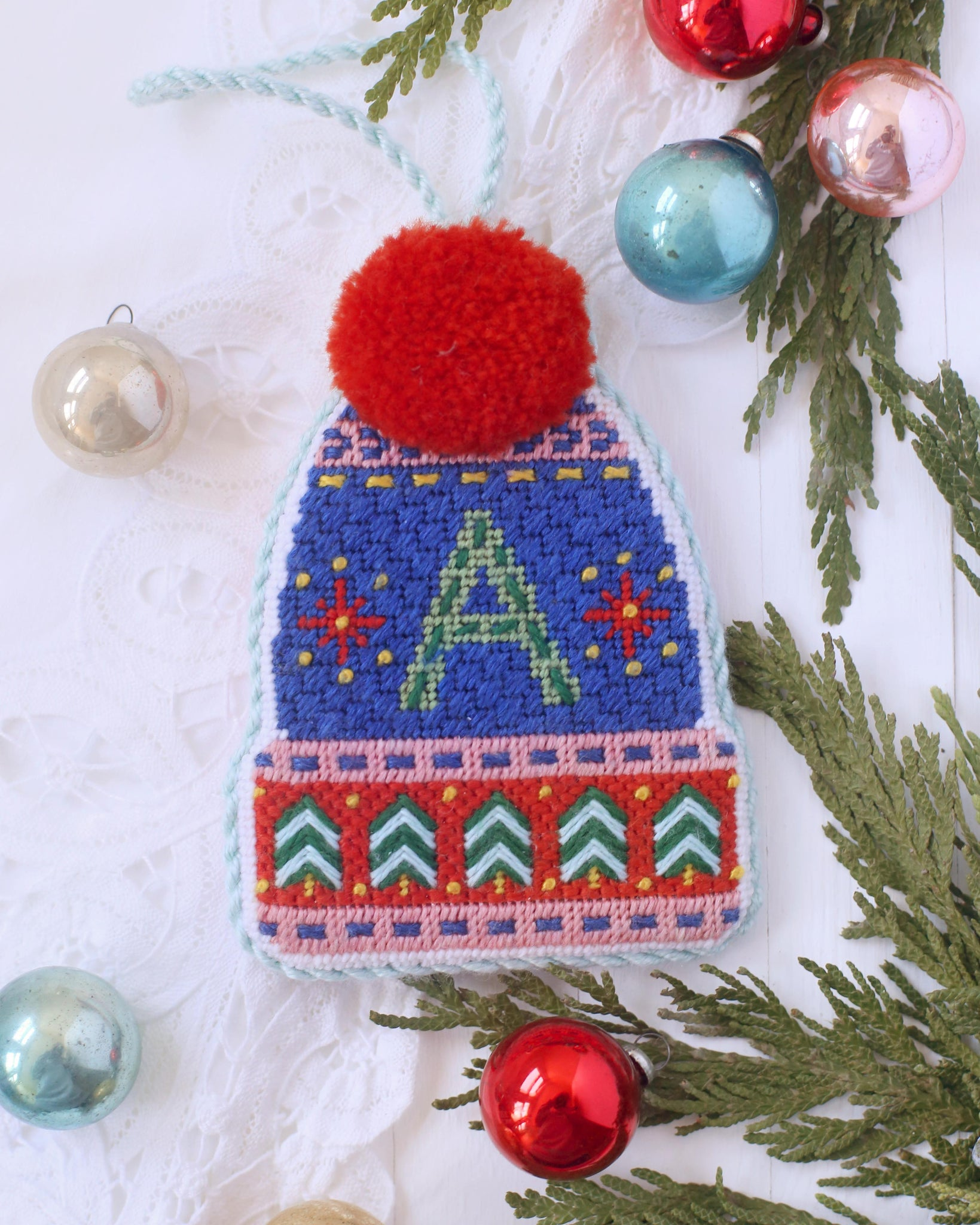 Pommed Winter Hat - Kit and Stitch Guide