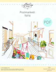 Postmarked: Italia Hand Embroidery Pattern