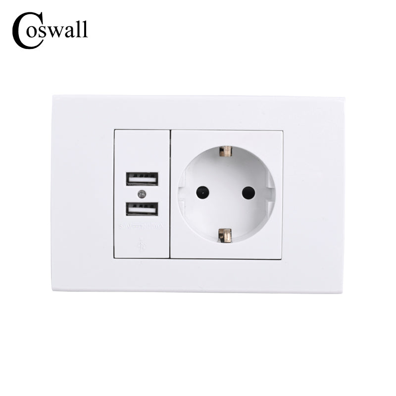 Wall Power Socket Grounded Smart Devices builds in USB Power supply