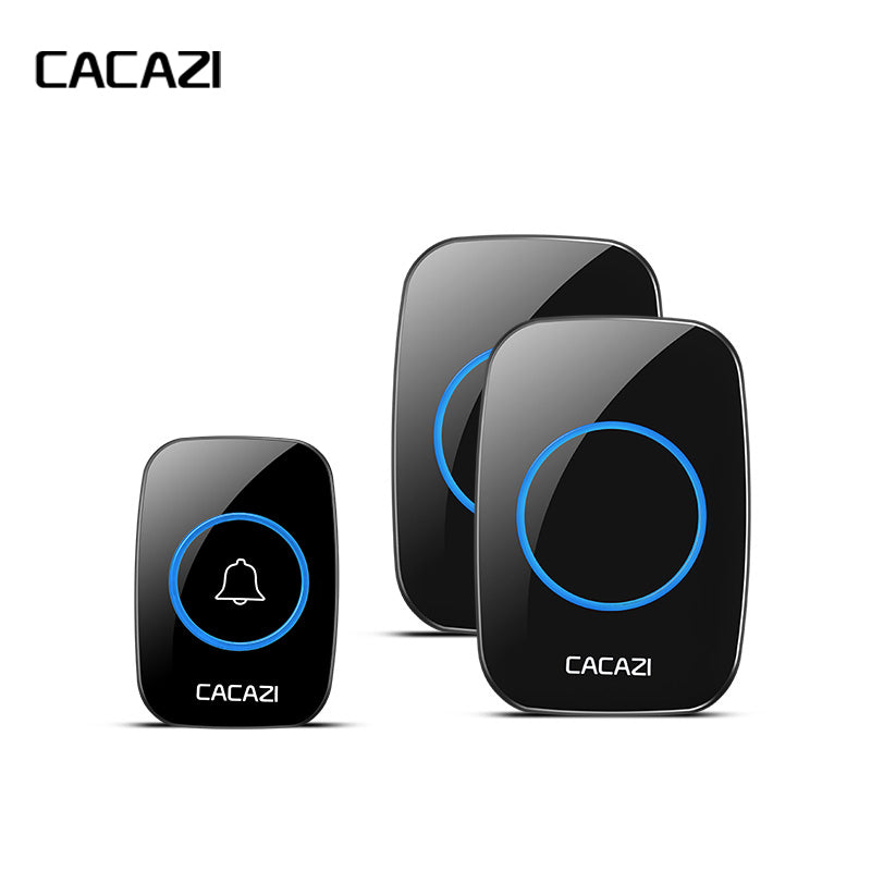 CACAZI New Waterproof Wireless Doorbell 300M Remote CALL