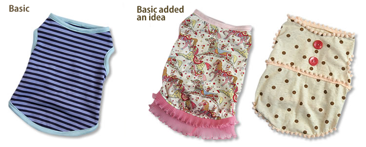 Free dog clothes patterns : Tank-top - Dog clothes sewing patterns