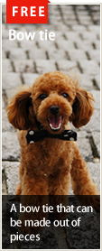 Free dog wear patterns : Bow tie
