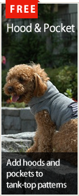 Free dog wear patterns : Hood and Pocket