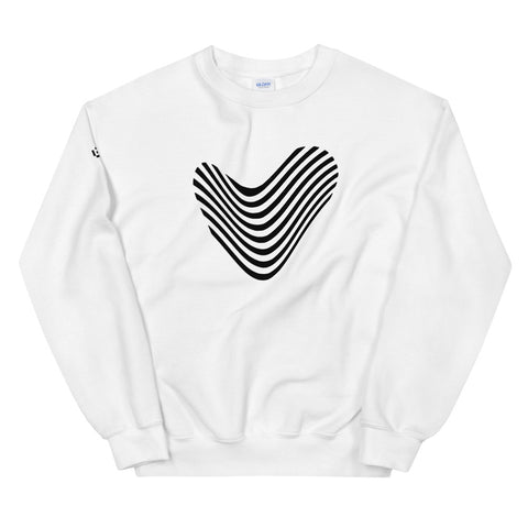 STRIPED HEART | Sweatshirt