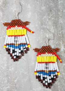 Toy Story Jessie-Inspired Beaded Earrings