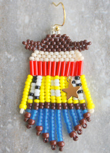 Toy Story Sheriff Woody Beaded Earrings