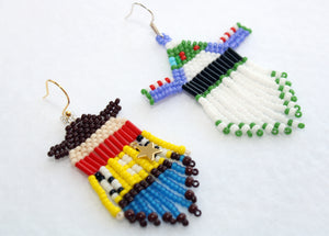 Toy Story Sheriff Woody-Inspired Beaded Earrings