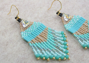 Princess Jasmine Beaded Earrings