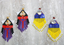 Load image into Gallery viewer, Evil Queen-Inspired Beaded Earrings