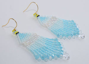 Princess Cinderella-Inspired Beaded Earrings
