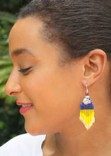 Load image into Gallery viewer, Snow White-Inspired Beaded Earrings