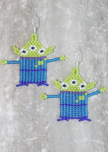 Toy Story Alien-Inspired Beaded Earrings
