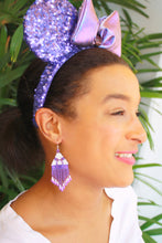 Load image into Gallery viewer, Potion Purple Mickey Ears-Inspired Beaded Earrings