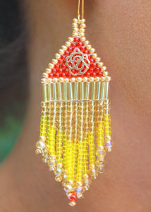 Princess Belle-Inspired Beaded Earrings