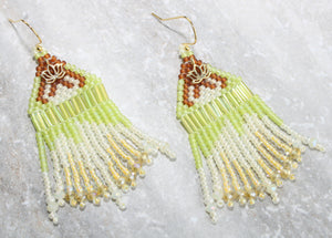 Princess Tiana-Inspired Beaded Earrings
