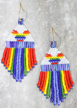 Load image into Gallery viewer, Mickey Pride Beaded Earrings