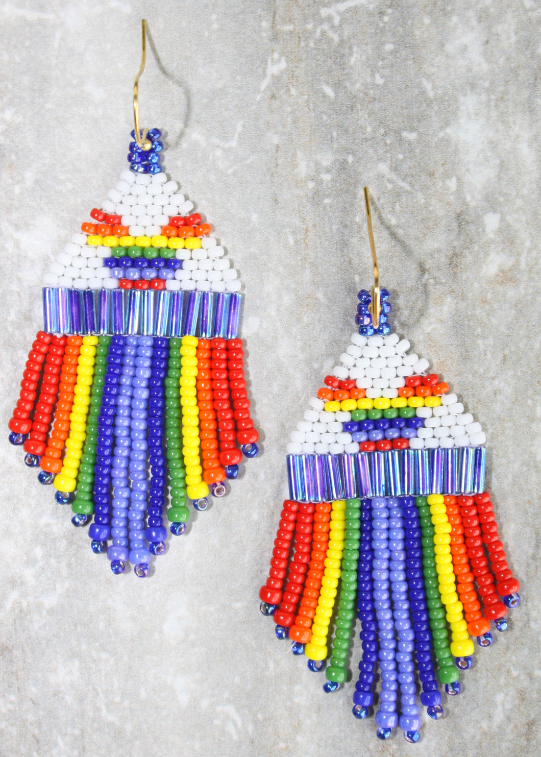 Mickey Pride Beaded Earrings