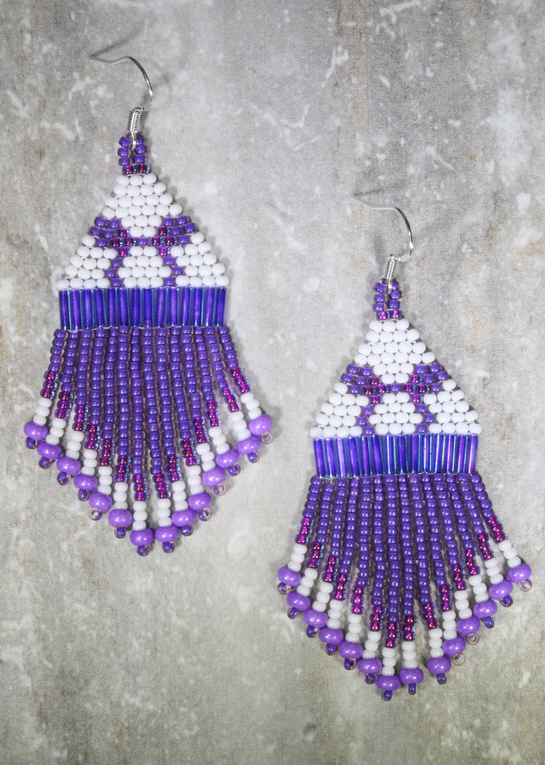 Potion Purple Mickey Ears-Inspired Beaded Earrings