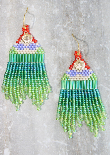 Little Mermaid-Inspired Beaded Earrings