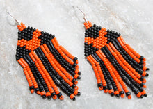 Load image into Gallery viewer, Mickey Mouse Halloween Earrings; Orange on Black