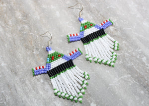 Toy Story Buzz Lightyear-Inspired Beaded Earrings