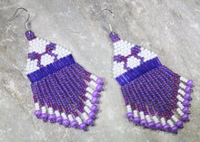 Load image into Gallery viewer, Potion Purple Beaded Earrings; MINI