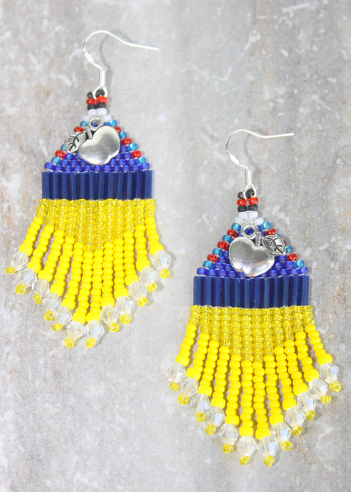 Snow White Beaded Earrings